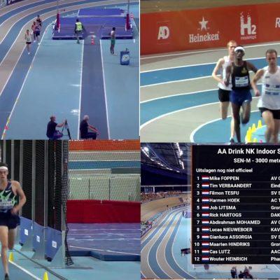Mike Foppen prolongeert 3000m indoor titel