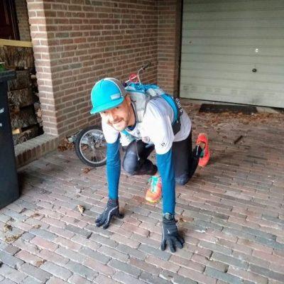 Ruud van Leeuwen loopt van Nijmegen naar Gouda